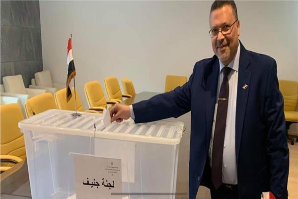 صورة من عملية التصويت
