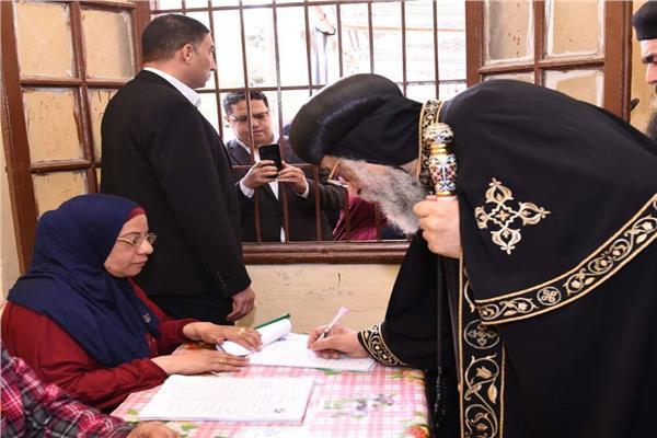 البابا تواضروس يدلي بصوته في استفتاء التعديلات الدستورية