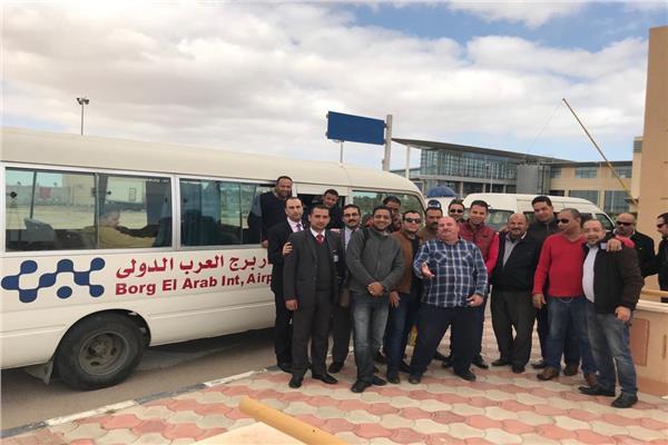 صور| العاملين بمطار برج العرب يشاركون في الإستفتاء على التعديلات الدستورية