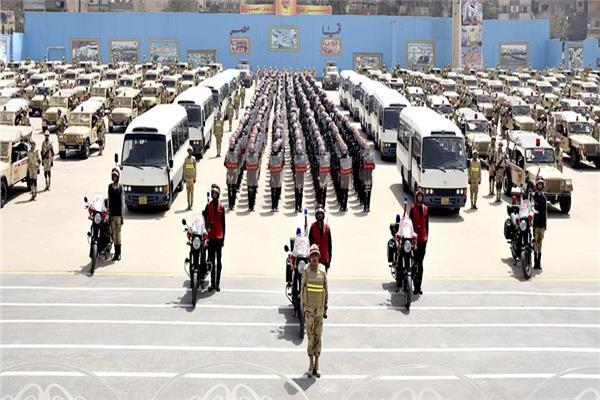 عناصر القوات المسلحة المشاركة في تأمين الاستفتاء على التعديلات الدستورية