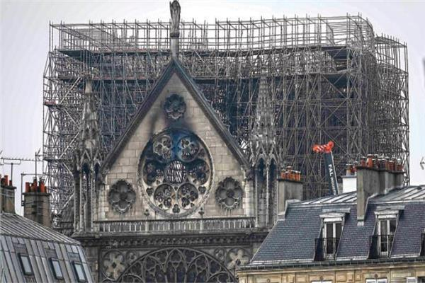 كاتدرائية نوتردام المحترقة