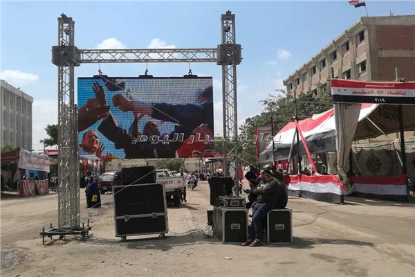 شاشة كبيرة وdj لتحفيز المواطنين بدار السلام