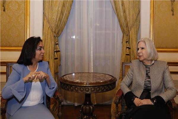 رئيس بعثة جامعة الدول العربية تلتقي مايا مرسي لبحث جهود الجانبين في متابعة الاستفتاء
