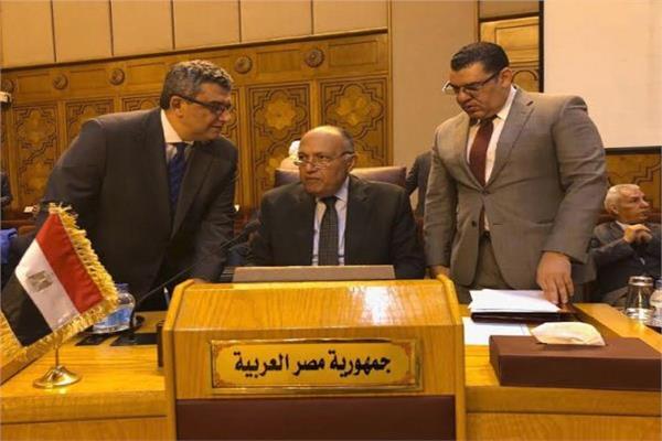 سامح شُكري يُشارك في اجتماع الدورة غير العادية لمجلس الجامعة العربية