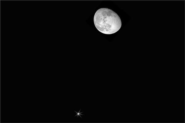 القمر قرب المشترى