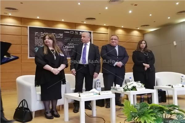 انطلاق فعاليات المؤتمر العلمي الدولي الثامن لكلية التربية الفنية جامعة حلوان