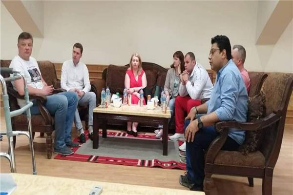 وفد بيلا روسيا في زيارة لمركز التنمية الرياضية بشرم الشيخ