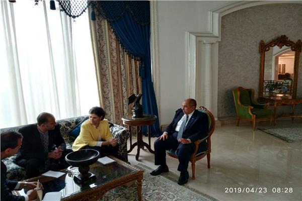 وزير الزراعة يبحث مع مدير مكتب الإيفاد سبل التعاون المشترك