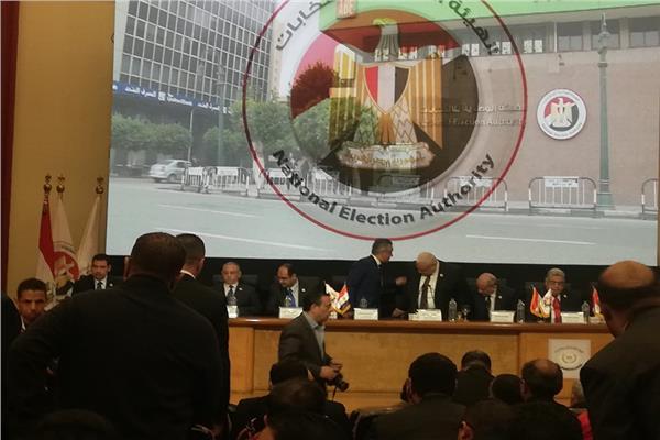 بدء مؤتمر «الوطنية للانتخابات» لإعلان نتائج الاستفتاء على التعديلات الدستورية