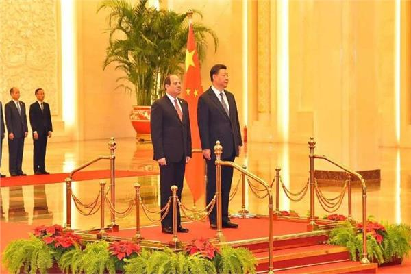 الرئيس السيسي ونظيره الصيني