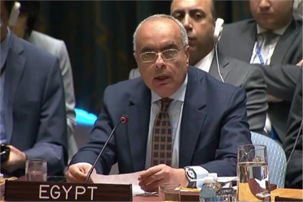 السفير محمد إدريس مندوب مصر الدائم لدى الأمم المتحدة في نيويورك