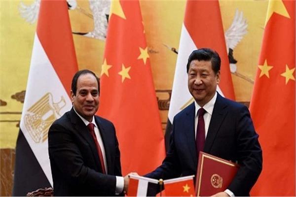 الرئيس عبدالفتاح السيسي مع الرئيس الصيني شي جين بينج
