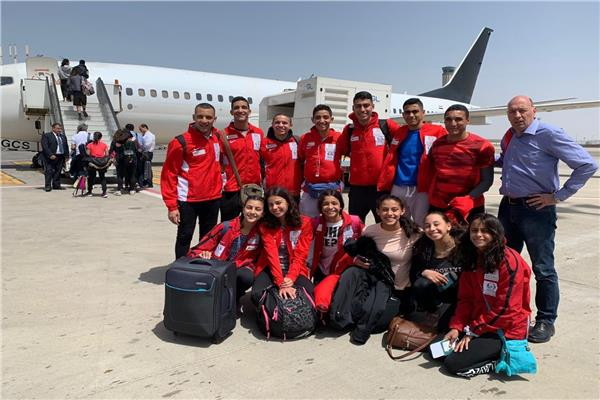 بعثة المنتخب الوطني للخماسي الحديث تغادر إلى إسبانيا