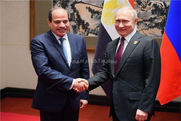 الرئيسان السيسي و بوتين خلال اللقاء