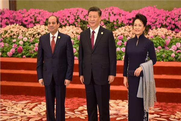 الرئيس عبد الفتاح السيسي والرئيس الصيني