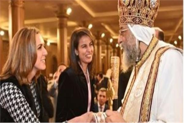 البابا تواضروس يستقبل المهنئين بعيد القيامة المجيد