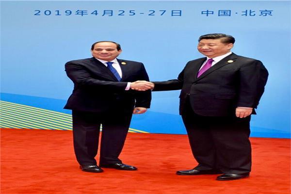 لقاء الرئيس عبد الفتاح السيسي والرئيس الصيني