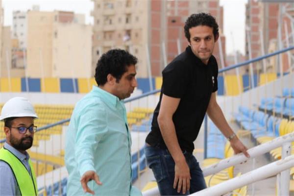 محمد فضل يتفقد ستاد الأسماعيلية