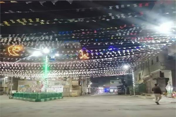 شوارع دمياط تتزين لاستقبال شهر رمضان