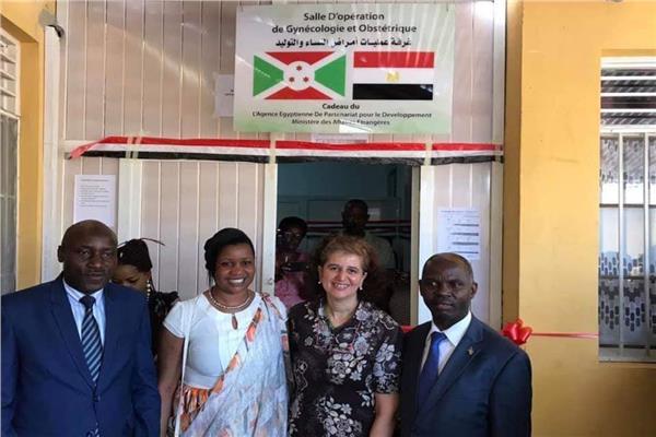 """بدء تشغيل """"غرفة النساء والولادة """"المهداة من مصر الي بوروندي"""