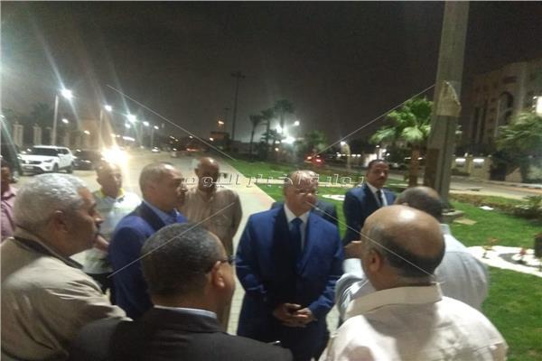 محافظ القاهرة يتفقد محيط ستاد القاهرة