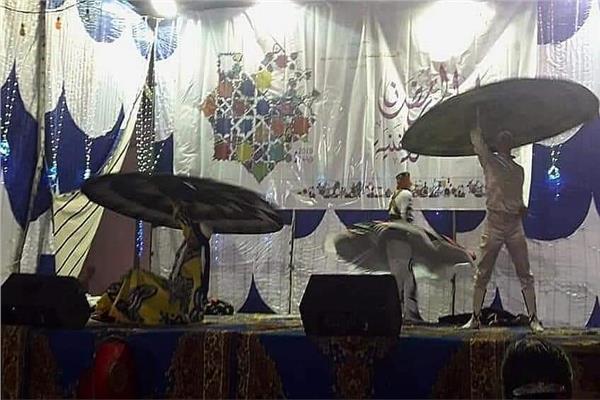 التنورة و الفلكلور السكندري في افتتاح ليالي رمضان بسرادق الشاطبي