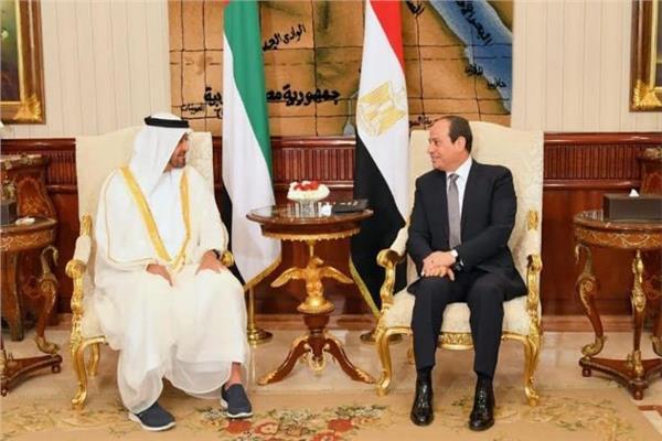 الرئيس السيسي وولي عهد أبو ظبي الشيخ محمد بن زايد