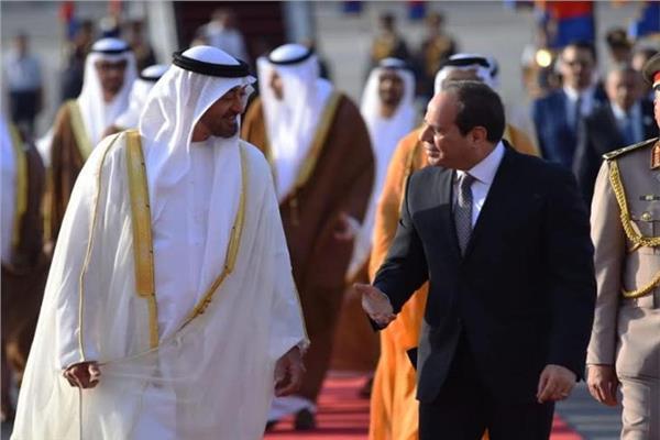 الرئيس السيسي يستقبل ولي عهد أبوظبي