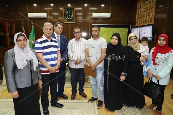 أسر ضحايا حادث حريق قطار محطة مصر