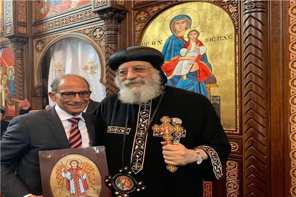 قداسة البابا تواضروس والدكتور هاني عازر