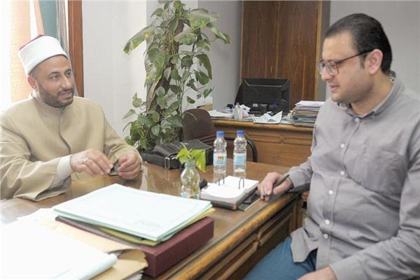 د. محمود الهوارى فى حواره مع محرر «الأخبار»