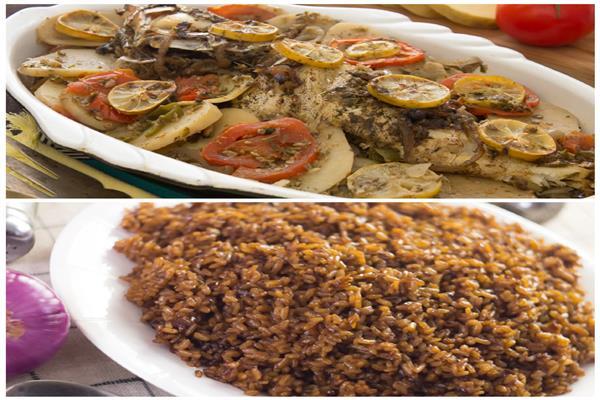 فطارك عندنا | صينية سمك بالبطاطس - أرز صيادية - بابا غنوج