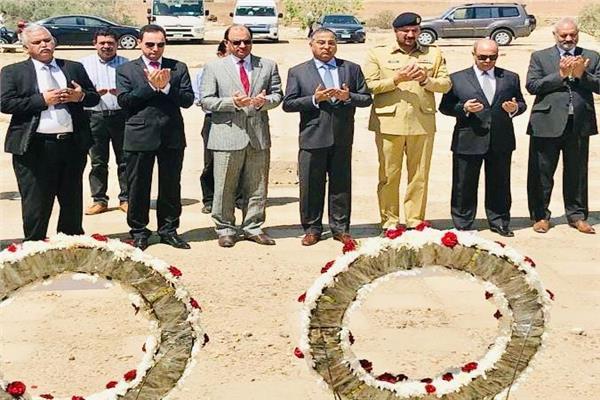 سفير باكستان يحيي ذكري سقوط اول رحلة طيران باكستانية لمصر