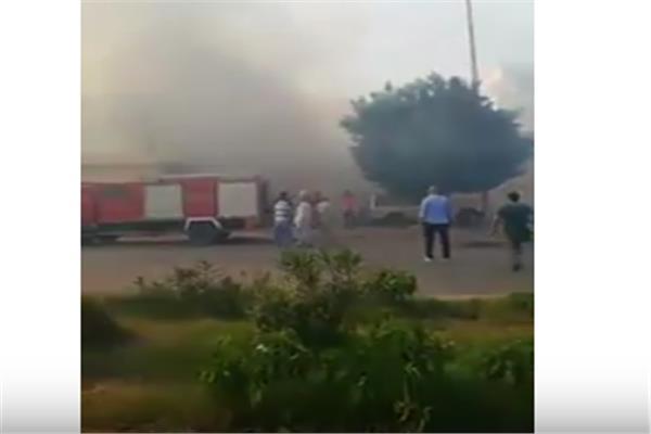 لمشاهد الأولى لحريق داخل حديقة بشارع الهرم