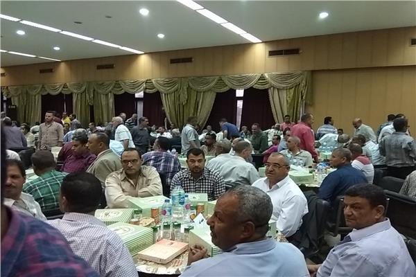 حفل افطار جماعى للعاملين بهيئة النقل العام