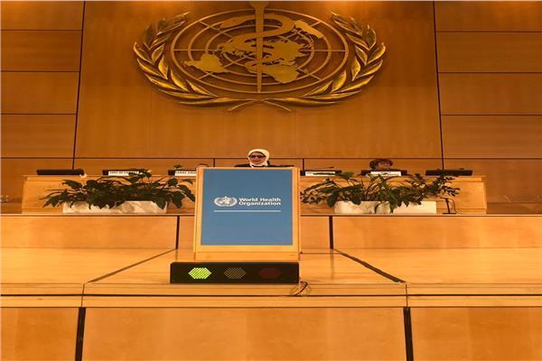 جانب من الدورة ال72 للجمعية العامة لمنظمة الصحة العالمية