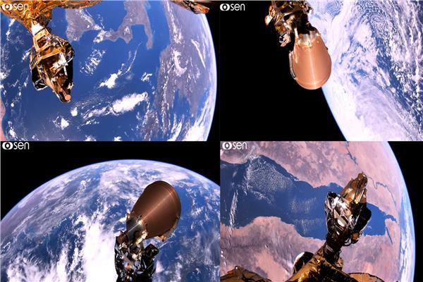 """القمر المصري """"EgyptSat-A"""" يلتقط فيديو للكرة الأرضية بتقنية 4K"""