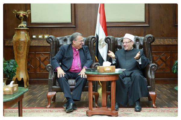 رئيس الإنجيلية يزور المفتي للتهنئة بعيد الفطر