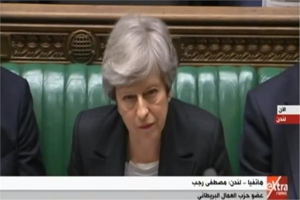 رئيسة وزراء بريطانيا في مجلس العموم