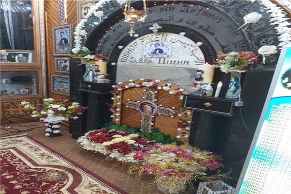 إيبارشية ملوي تحتفل بالذكرى الـ33 لوفاةأول أسقف لها
