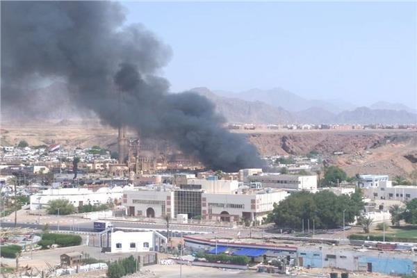 حريق أحد المولات في السوق التجاري القديم بشرم الشيخ