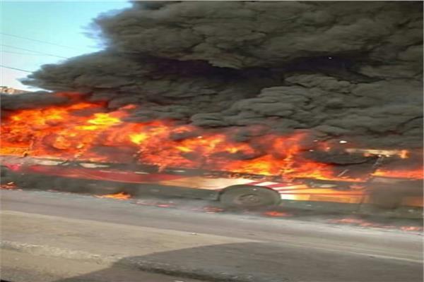 حريق أتوبيس نقل عام