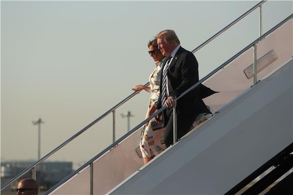 الرئيس الأمريكي يصل إلى طوكيو