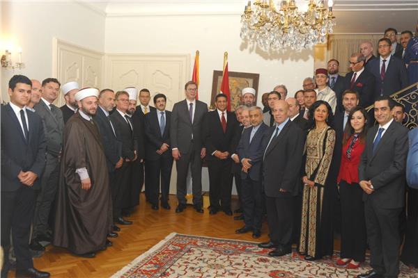 رئيس صربيا يشارك فى حفل إفطار السفارة المصرية فى بلجراد