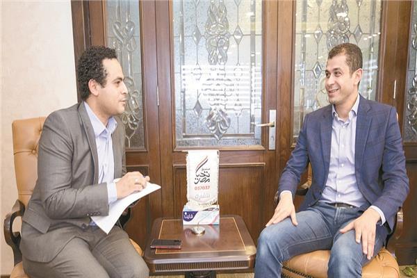 تامر عبد الفتاح خلال الحوار