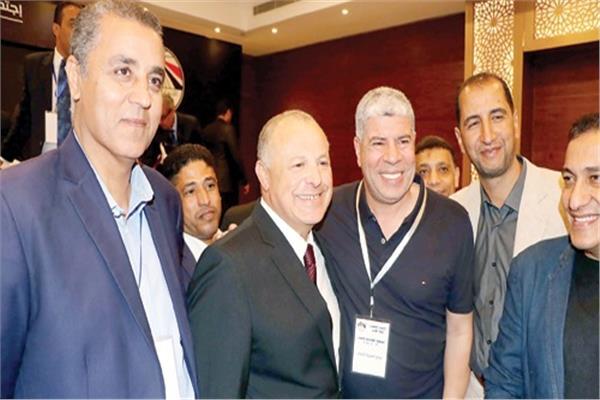 هاني أبو ريدة وأحمد شوبير