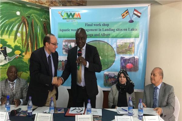 وزير الزراعة والثروة الحيوانية والأسماك الأوغندي يشهد ورشة العمل الختامية