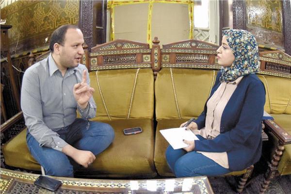 الشيخ إسلام النواوي خلال حواره