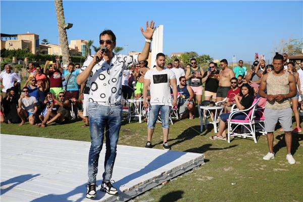 أحمد شيبة خلال الحفل