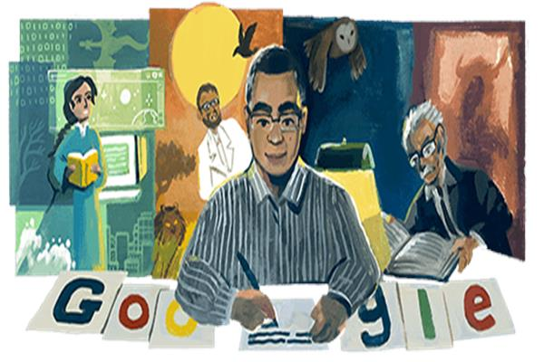 صورة من احتفال جوجل بميلاد أحمد خالد توفيق